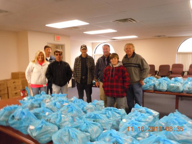 Volunteers bag items for Worcester County Gold MD donations