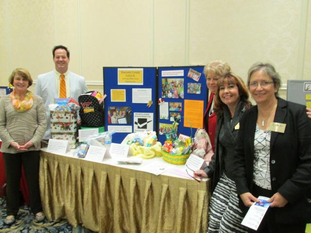 volunteers at Worcester County Gold MD booth